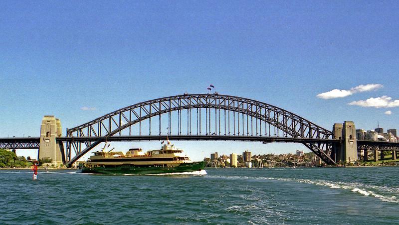 Sydney Harbour Bridge and ferry.