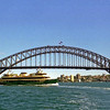 Sydney Harbour Bridge and ferry.