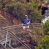 Russell on the Giant Stairway. 900 steps from the Three Sisters down to tracks in the Jamison Valley.