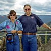 Robyn and Russell at the Wentworth Falls Lookout.