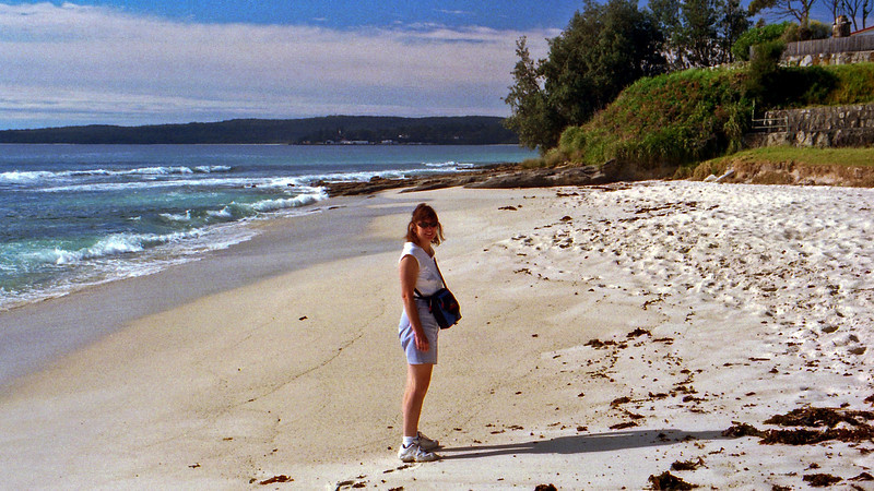 Robyn at Hyams Beach in Jervis Bay.
