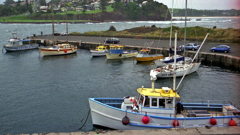 The boat harbour in Kiama.