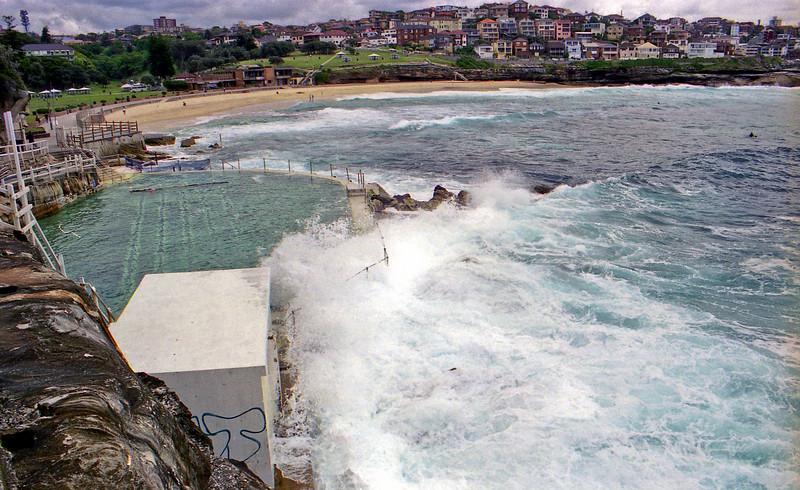 Salt water pool at Bronte Beach on the walkway.
