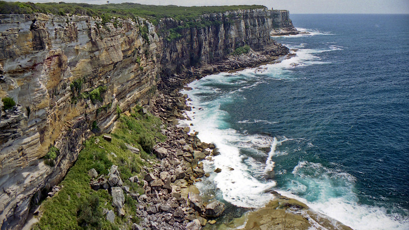 Coastline near North Head in Sydney.