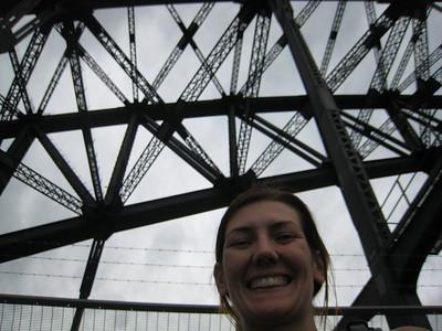 Walking over the Harbor Bridge