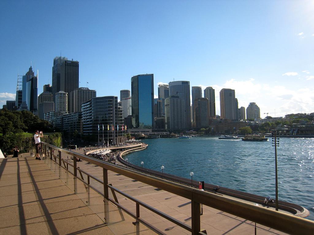 the circular quay in Sydney Harbor