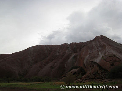 Darkened Skies over Uluru