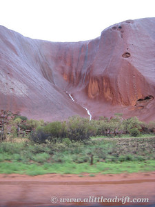 Waterfall River Running down Uluru
