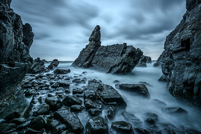 Rock formation at Crescent Head in Australia
