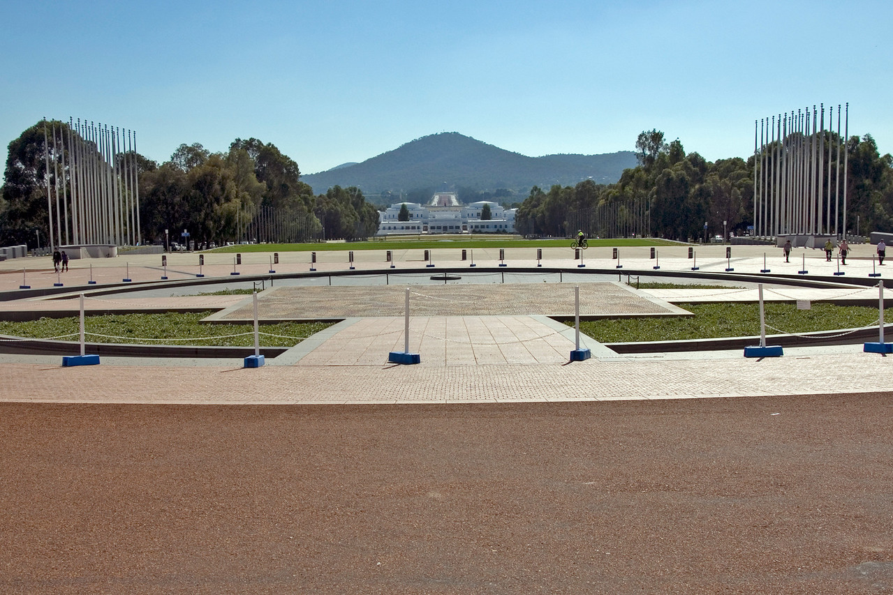 Outside Parliment Building - Canberra, Australia