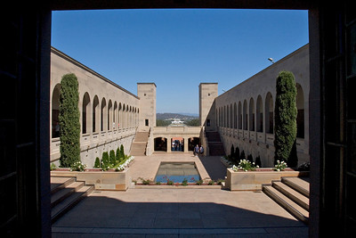 Looking at Parliment from War Memorial - Canberra, Australia