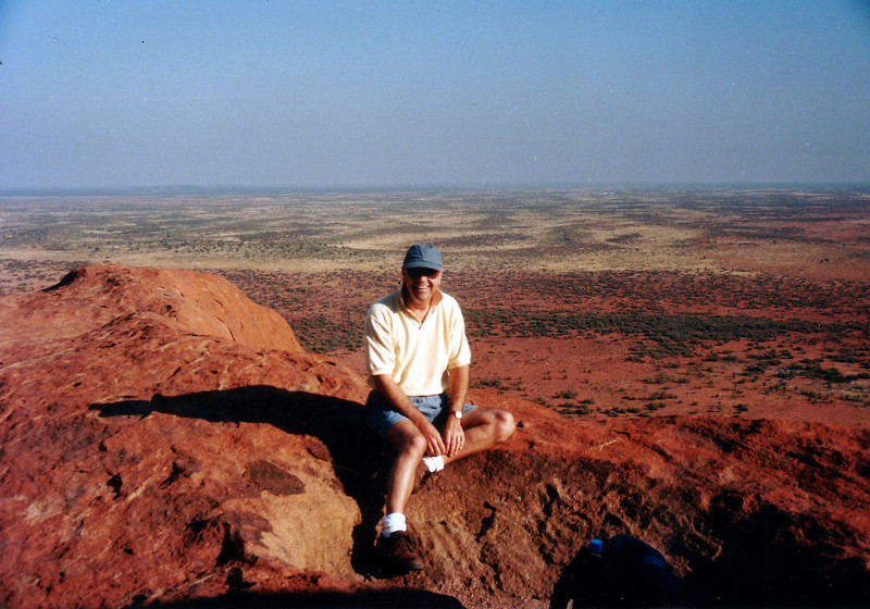 On top of  Uluru - Ayers Rock in Oct 1995.