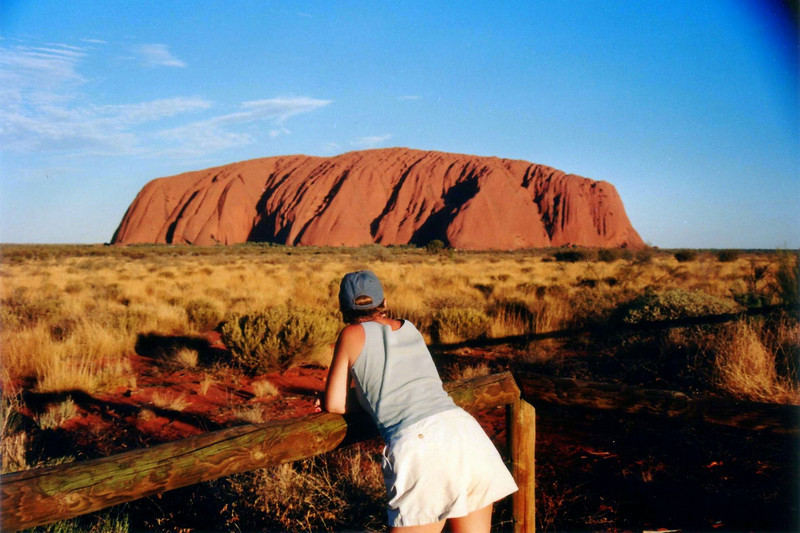 Uluru/Ayers Rock, great to watch as the sun goes down Oct 1995.