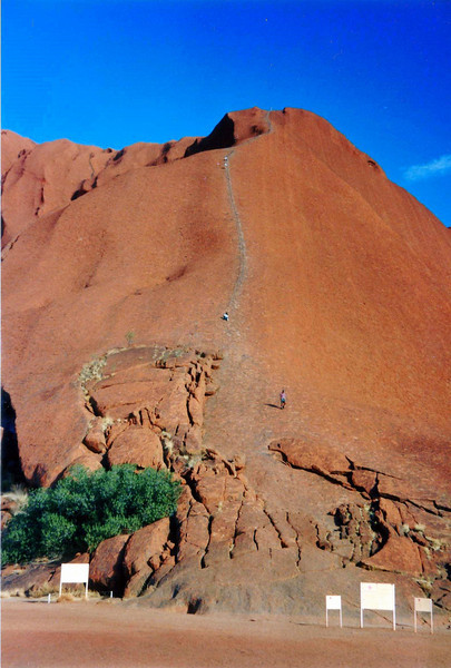 Uluru/Ayers Rock  climbing path to the top, Oct 1995.