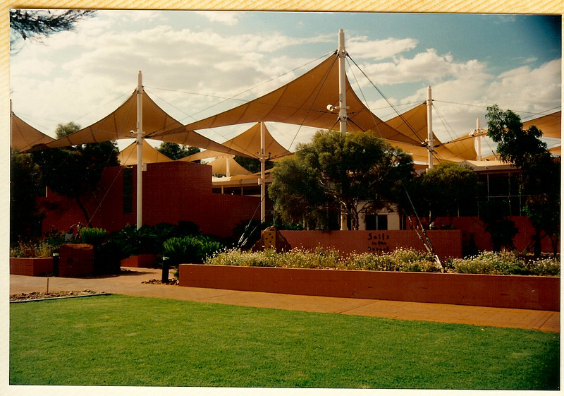 """We stayed at Sails-in-the-Desert,  <a href=""""http://www.ayersrockresort.com.au/sails/"""">http://www.ayersrockresort.com.au/sails/</a>"""