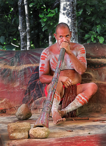 Pamagirri Aborigine Playing  Didgeridoo