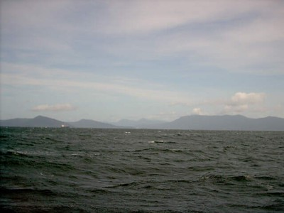 Mountains near Cairns, seen from boat