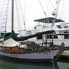 Wooden boat, designed and hand-built in Port Angeles, Washington State, USA, by the current owner. It's been around the world twice!
