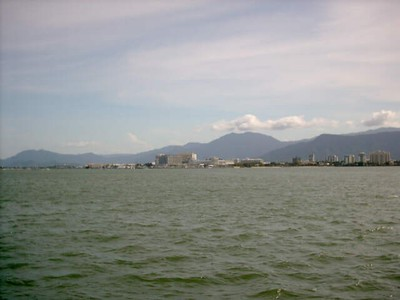 Cairns, seen from boat