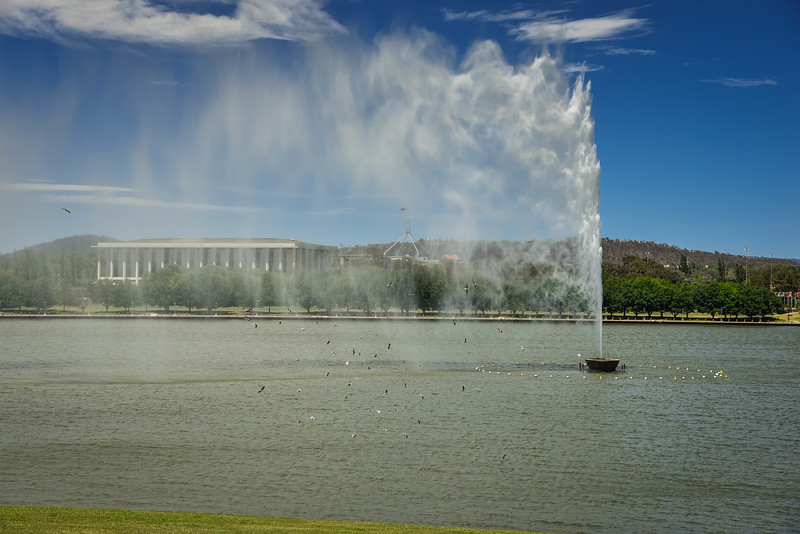 lake burley griffin jet