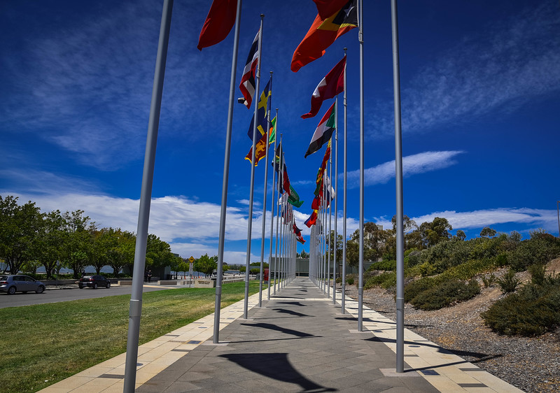 canberra international flag display