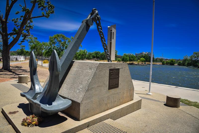 lake burley griffin memorials