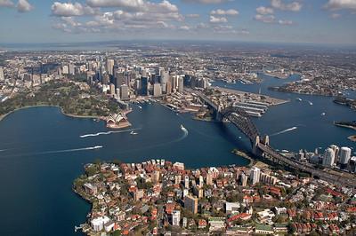 Chopper Flight Over Sydney