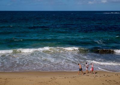 Three guys at Coogee Beach