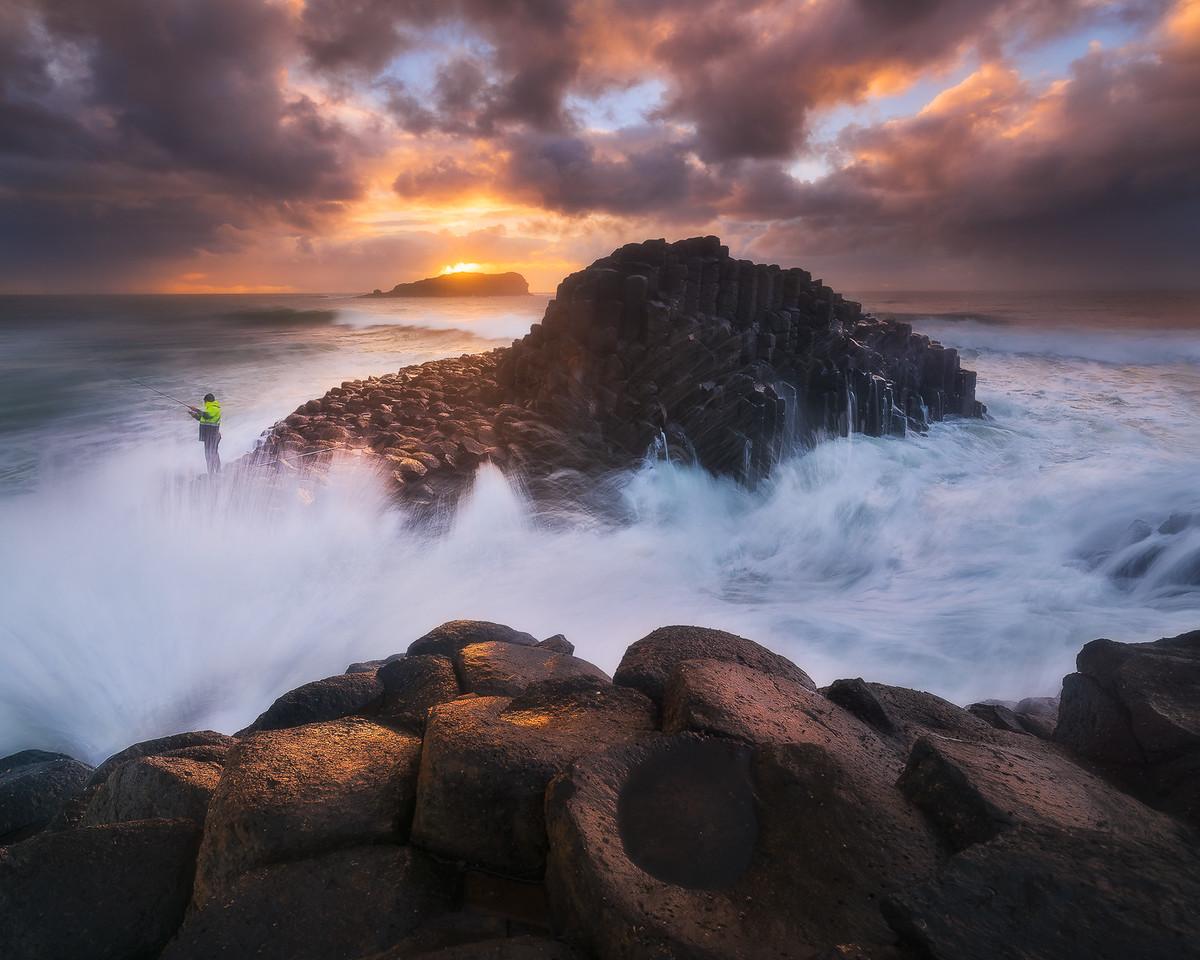Roaring seas at Fingal Head