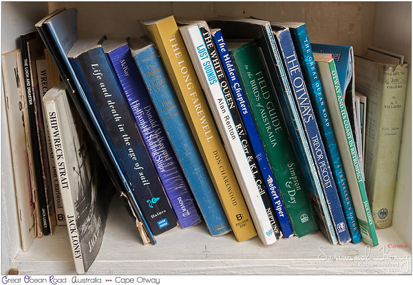 Interesting set of books at the Cape Otway Lighthouse - Shipwreck !