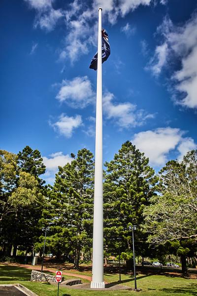 Am Aussichtspunkt der Stadt Toowoomba