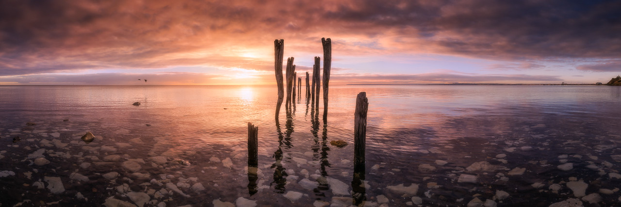 The end of an amazing dawn at old Kingscote Pier