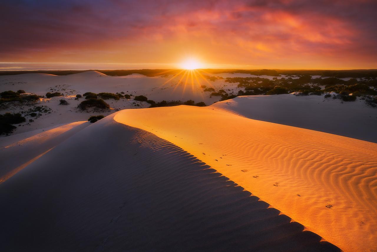 Little Sahara on a blazing dawn