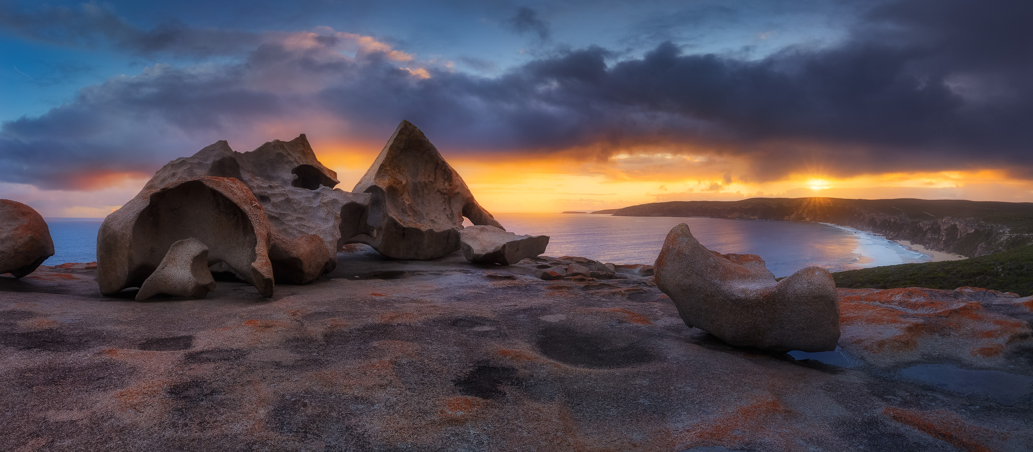 Variable weather made for great conditions at the exposed Remarkable Rocks