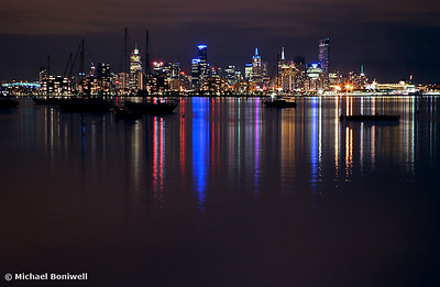 Melbourne City Lights from Williamstown, Victoria