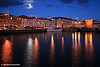 Moonlit Hobart Port, Tasmania
