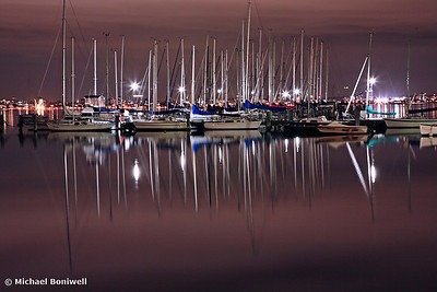 Williamstown Harbor by Night, Melbourne, Victoria