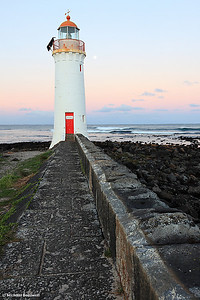 Port Fairy Lighthouse Moonrise, Victoria, Australia