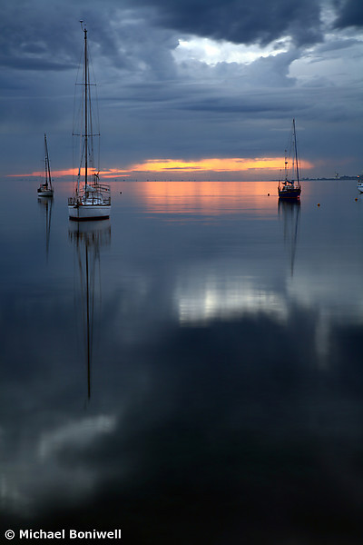 Boats at Dawn. Victoria