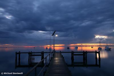 A Winter's Dawn on the Pier. Victoria