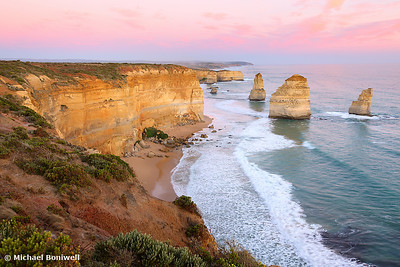 The Twelve Apostles at Dusk, Great Ocean Road, Victoria, Australia