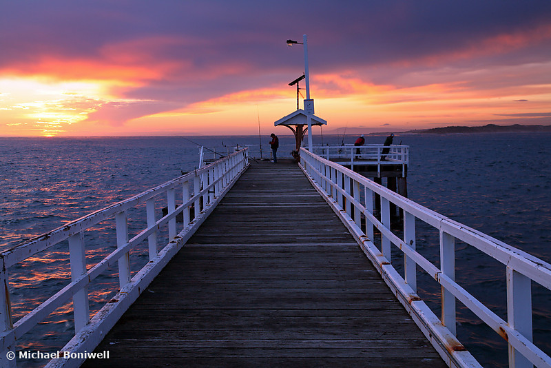 Fishermen on Point Lonsdale Pier, Victoria