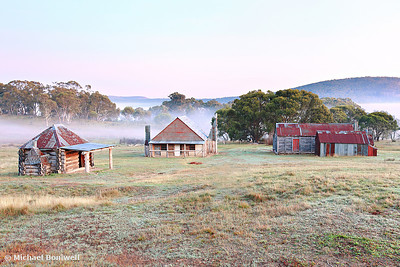 Coolamine Homestead Dawn, Kosciusko National Park, NSW, Australia