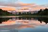 Lake Matheson Sunset, West Coast, South Island, New Zealand