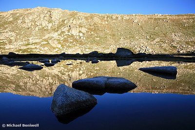 Early morning refections of Mt Kosciusko summit