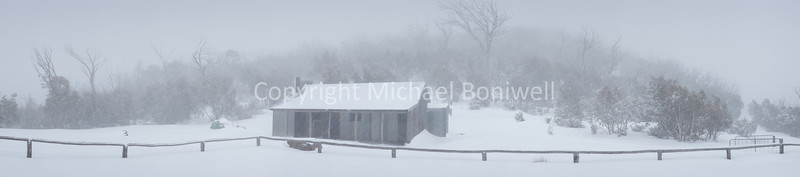 "Snow Storm, Bluff Hut, Alpine National Park, Victoria, Australia. <a href=""mailto:michael.boniwell@gmail.com"">Email</a> to order a print or commercial use license."