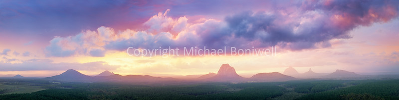 "Wild Horse Mountain Lookout, Glass House Mountains, Queensland, Australia.  <a href=""mailto:michael.boniwell@gmail.com"">Email</a> to order a print or commercial use license."