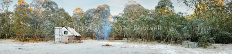 "Frosty Moroka Hut, Alpine National Park, Victoria, Australia. <a href=""mailto:michael.boniwell@gmail.com"">Email</a> to order a print or commercial use license."