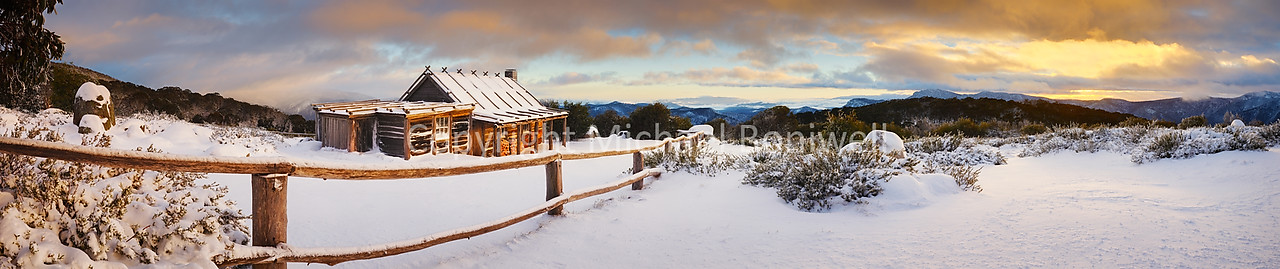 "Craigs Hut Winter Sunrise, Mt Stirling, Victoria, Australia. <a href=""mailto:michael.boniwell@trendlogic.com.au"">Email</a> to order a print or commercial use license."