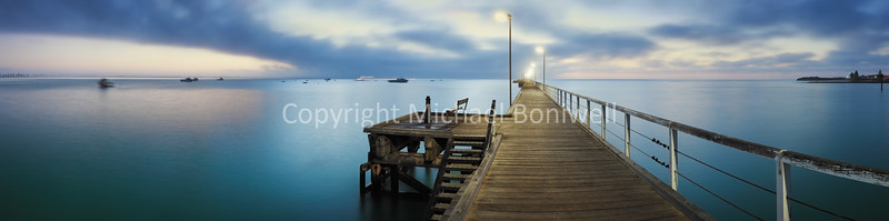"Beachport Jetty, South Australia. <a href=""mailto:michael.boniwell@gmail.com"">Email</a> to order a print or commercial use license."